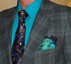 Vintage plaid suit, Calvin Klein shirt, Dion Collection tie…