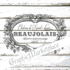 Wine French Transfer Instant download Shabby Transfer Burlap digital graphic printable graphic No. 588