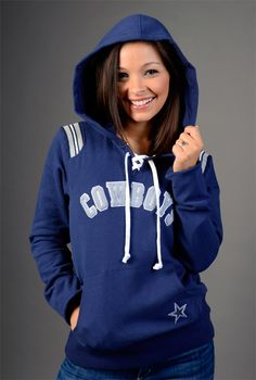 Dallas Cowboys Touch Lace Up Hoody...this with my Saints jersey underneath...routing for both mine and the hubby's team