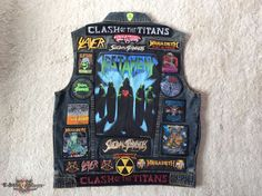 Clash Of The Titans 1990 Kutte: Slayer - Megadeth - Testament - Suicidal Tendencies - Battle Jacket | TShirtSlayer TShirt and BattleJacket Gallery