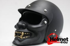 The Hannya Samurai Motorcycle helmet. See the motorists get out of the way when they see me coming! Custom Motorcycle Helmets, Custom Helmets, Motorcycle Gear, Custom Bikes, Women Motorcycle, Biker Helmets, Funny Motorcycle, Enfield Motorcycle, Classic Motorcycle