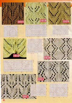 Victoria - Handmade Creations : Πλέξιμο - Σχέδια Leaf Knitting Pattern, Lace Knitting Stitches, Cable Knitting, Knitting Charts, Stitch Patterns, Knitting Patterns, Crochet Patterns, Crochet Yarn, Free Crochet