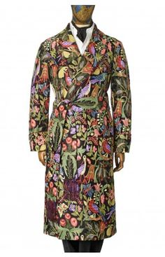 Bird Embroidery Silk Gown, New and Lingwood