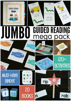 Amazing guided reading resource!! LIFETIME ACCESS to all reading activity packs - rhyming games, word family activities, sight word games. Tons and tons of activities.