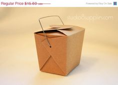 Kraft Paper Wire Handle Boxes by studio8supplies, $12.48