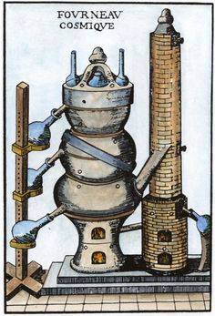 Woodcut from Annibal Barlet, Le vray et methodique cours. Magnum Opus, Moonshine Still Plans, Tarot, Masonic Symbols, Spiritus, Ancient Mysteries, True Art, Religious Art, Sacred Geometry