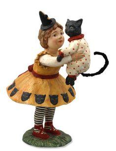 Bethany Lowe Halloween Zoe with Cat