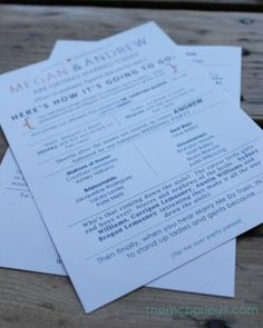 {DIY Wedding Programs}  OMGosh where were these when I got hitched !!??