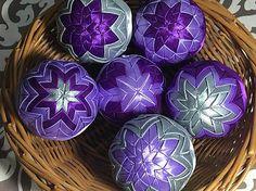 Melinda35 / vianočné patchworkové gule fialovo-strieborné