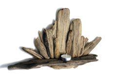 Lovely Driftwood Tealight shelf from Celtic Coast Creations.