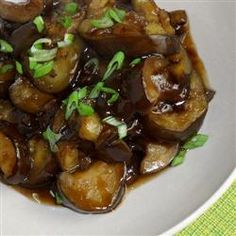 """Eggplant with Garlic Sauce   """"A mildly spicy (or very spicy if you like) eggplant dish."""""""