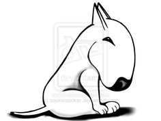 English Bull Terrier Original by sookiesooker.deviantart.com on @deviantART