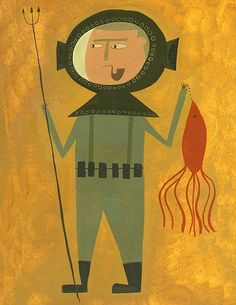 @Julianne Passarelli  Deep Sea Diver  Limited edition print by Matte by matteart on Etsy, $35.00