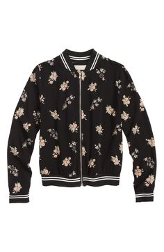 3eba72c166fc65 Free shipping and returns on Walking On Sunshine Floral Bomber Jacket (Big  Girls) at