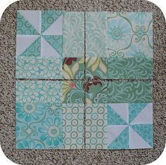 !Sew WE Quilt!: Guest Blocker.....Jennie with a Pinwheel Toss ( Clover & Violet)