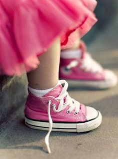 Pink Toddler Converse All Star Hi Top Sneakers