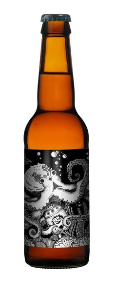 Such a cute octopus #beer #packaging PD