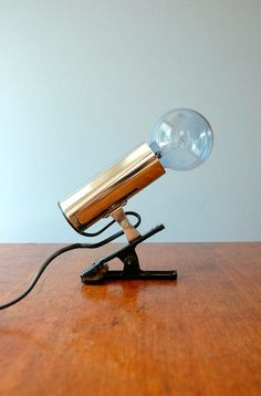 Vintage Targetti Mod Chrome Clamp Lamp