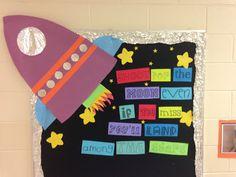 Inspirational school bulletin board