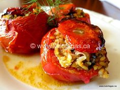 "Follow One of the observations I often hear about Greek cuisine is that the food tastes so much better than over here in North America, and often many wonder ""why?"" Greek cuisine shines when ingredients are used that are in season, and when it's the middle of summer, that means tomatoes! I was recently sent …"