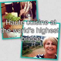 SARAH LOUGHRIDGE @SarahSylv @BrittanyFerries #DiscoverWithBF Fab cuisine of Michel Bras, Aire du Viaduct de Millau - amazing food awesome bridge