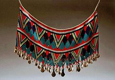 Africa | Beaded Skirt.  Kirdi, Cameroon.  Traditionally worn by women during important ceremonies such as marriage.
