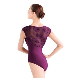 Adult Cap Sleeve Swirl Mesh Leotard - Style Number: L2822