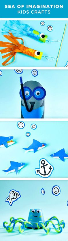 Kids Crafts by Michaels! Explore life under the sea with these aquatic creature projects. Craft a clay pot octopus or a clothespin shark and keep their creative minds going this summer. Get all of the supplies you need to make these projects at your local Michaels store.