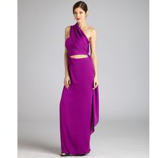 GORGEOUS COLOR -> fuchsia silk strapless sarong evening gown