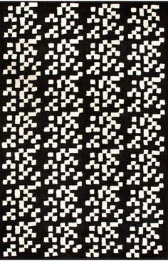 Cenon Pixel Black Rug