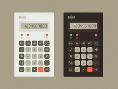 Braun Calculator designed by edog. Connect with them on Dribbble; Web Design, Flat Design, Braun Dieter Rams, Christmas Wreaths To Make, Type Posters, Ui Design Inspiration, Christmas Nail Designs, Ui Elements, Ideas