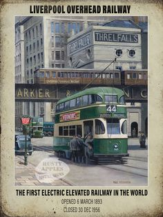 my tram home to Walton Hall Ave Liverpool Town, Liverpool History, Blackpool Pleasure Beach, Uk Rail, New England Fall, Railway Posters, Interesting Buildings, Architecture Old, Vintage Travel Posters