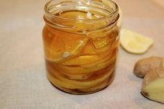 Ingwer-Honig mit Zitrone gegen Erkältungen und zur Stärkung des Immunsystems.