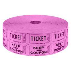 Magenta 2-Part Raffle Tickets 2000 / Roll $4.29