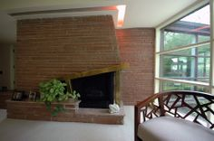 Fireplace in former residence of Frank Louis Glick (home for sale in Park Ridge)