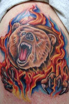 Bear Tattoos Ideas And Pictures Tribal Bear Tattoo, Black Bear Tattoo, Polar Bear Tattoo, Hand Tattoos For Women, Tattoo Designs For Women, Tattoos For Guys, Care Bear Tattoos, Top Tattoos, Bear Tattoo Meaning