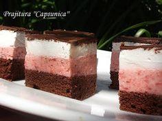 diana's cakes love: Prajitura ''Capsunica'' Cookie Recipes, Cheesecake, Pudding, Keto, Sweets, Cookies, Desserts, Romania, Christmas Ideas