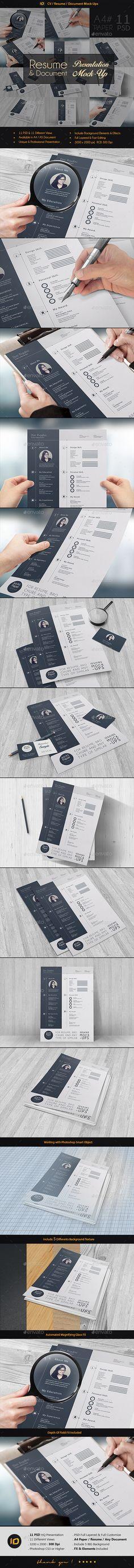 CV / Resume Mock-Up