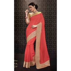 Designer Red & Golden Printed Raw Silk Saree -  RKRGSE8213 ( FH-RKRGSE8201 )