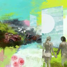 Paradise 50 x 50 cm www. Matte Painting, Paradise, Artists, House, Kunst, Pictures, Home, Homes, Artist