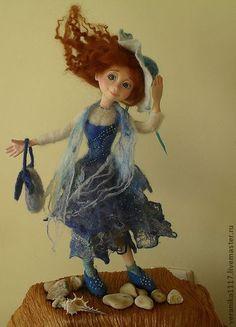 "*NEEDLE FELTED ART ~ Collectible handmade dolls.  Fair Masters - handmade Dolls ""Sea Breeze"" ..  Handmade."