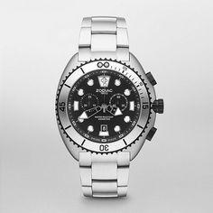 Get ready for your next adventure with this sleek Diver. A sand-sprayed stainless steel case and bracelet take center stage on this classic style.  https://www.facebook.com/CertifiedWatchStore