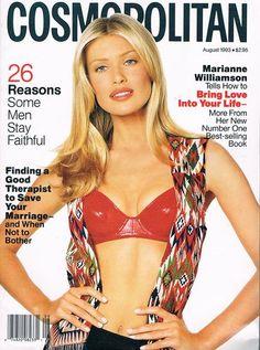 Cosmopolitan magazine, AUGUST 1993 Model: Daniela Pestova Photographer: Francesco Scavullo