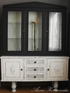 napi art szüret festék komoda Cabinet Makeover, Diy Cabinets, Diy Painting, China Cabinet, Decoupage, Storage, Room, Furniture, Home Decor
