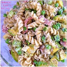 Gourmelita: 'Green' Pasta Salad Cook Up A Storm, First Bite, Appetisers, Allrecipes, Pasta Salad, Family Meals, Salads, Good Food, Cooking