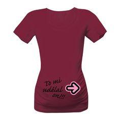 Vtipně ukažte na svého muže, že to je vlastně on, díky kterému čekáte teď miminko :-) Skvělé párové tričko pro těhulky.