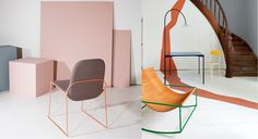 Left : Structure is an exhibition by Klubben, Norwegian Crafts and Jotun. via Goodmoods Style Deco, Vintage Design, Decoration, Design Inspiration, Sofa, Interiors, Living Room, Studio, Chair