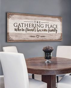 Home Decoration Ideas Easy Kitchen Wall Art: The Gathering Place Where Friends (Wood Frame Ready To Hang).Home Decoration Ideas Easy Kitchen Wall Art: The Gathering Place Where Friends (Wood Frame Ready To Hang) Family Wall Decor, Tv Wall Decor, Cheap Home Decor, Diy Home Decor, Tv Wanddekor, Dining Room Wall Decor, Ikea, Reno, Home Decor Kitchen