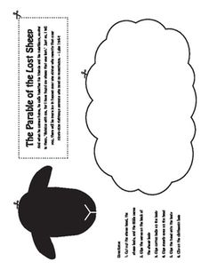Parable Of The Lost Sheep Craft Elementary L Activities For Kids