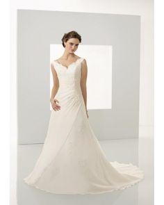 Belle Robe de mariée avec col en V